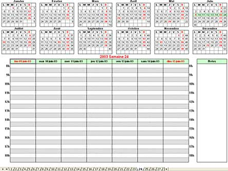 Calendrier Semaine Excel.Applications Excel Repertxl